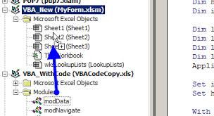 excel vba adding code to excel workbook