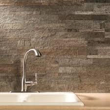 Stone Backsplash Kitchen by Multi Color Travertine Mix Subway Backsplash Tile Dark Medium