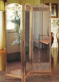 Mirror Room Divider by Sibilia Room Divider Gold Mirror Roman Deco Furniture