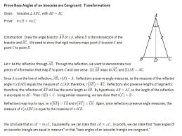 lesson 23 base angles of isosceles triangles geogebra