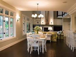 dining room ideas with dark hardwood floors and white chair and