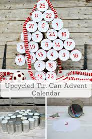 upcycled advent calendar using tin cans rustic farmhouse
