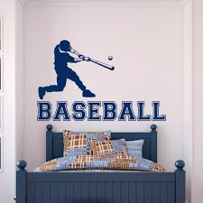 online get cheap sports wall decals for boys room aliexpress com baseball player wall decal gym sports wall vinyl stickers for boys bedroom teens kids room college