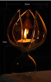 Candle Light Decoration At Home by Lotos Flower Glass Candle Holder Candelabrum Candlestick