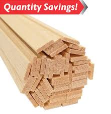 balsa wood strips 1 8 x 5 8 x 36 50 pkg