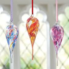 buy birthstone glass teardrop decoration from museum selection