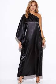 black one shoulder cut out sleeve ruched fitted evening maxi dress