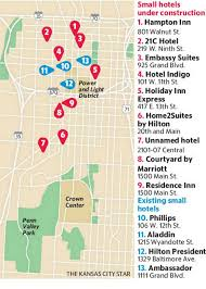 power and light district map there s a boom of small hotels in downtown kansas city the kansas