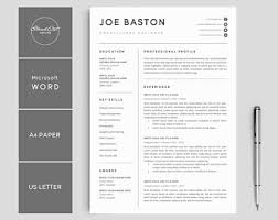 pages resume template resume template etsy