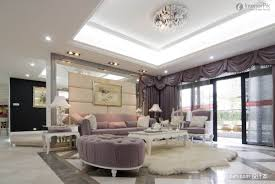 modern pop ceiling designs for luxury living room with gray