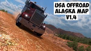 Alaska Map Usa by Usa Offroad Alaska Map V1 4 Details Ats Hd Youtube