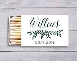 matches for wedding wedding matches etsy