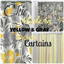 chic u0026 affordable yellow and gray shower curtains gray shower