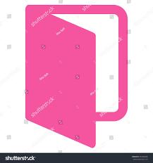 pink flat color open door icon vector style flat stock vector 474280426 shutterstock