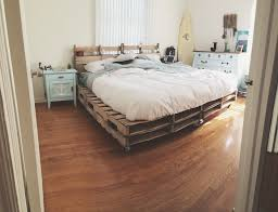 nautical bedroom with pallet bed frame nautical decor
