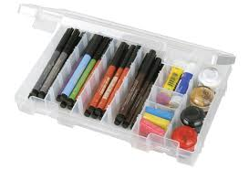organizing the art supplies with artbin core77