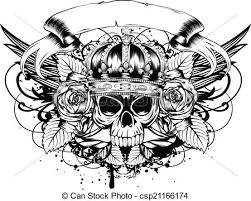 skull roses and illustration drawings search clipart
