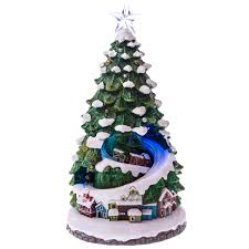 ceramic christmas tree with lights cracker barrel led village christmas tree scene collections traditional