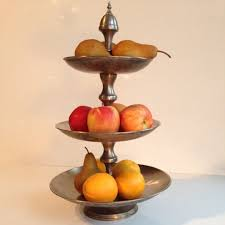 vintage metal cupcake stand 3 tier fruit stand shabby chic