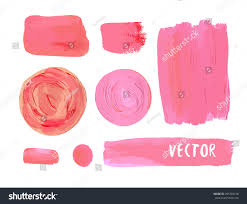set cosmetic stains texture acrylic paint stock vector 296784158