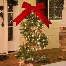lighted christmas tree garland outdoor christmas decorating ideas yard envy diy tomato cage tree