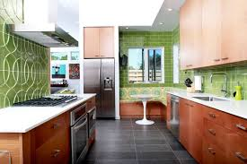 frameless kitchen cabinet kitchen modern with green tile
