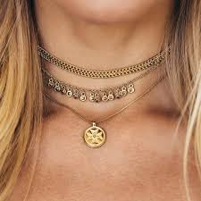 charm necklace choker images Noa coin charm necklace gold luv aj jpg