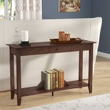 white console table with drawers white console sofa tables you ll love wayfair