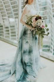 tie dye wedding dress best 25 dipped wedding dress ideas on dip dye wedding