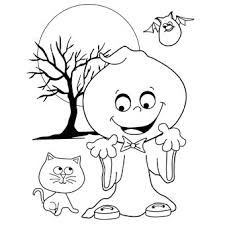 silly ghost colouring free fun halloween oriental