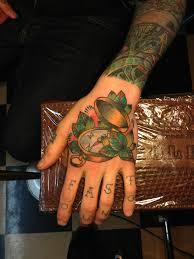tattoo compass hand compass tattoo on hand best tattoo design ideas