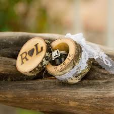 wedding ring in a box mini log ring boxes wedding ring box wood ring box ring