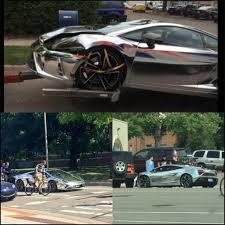 crashed lamborghini international student at my university drives a chrome lambo