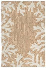 Coral Outdoor Rug Coral Bordered Beige Area Rug White Branches Outdoor Area Rugs