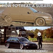 subaru meme hellaflush or mud running mud for me