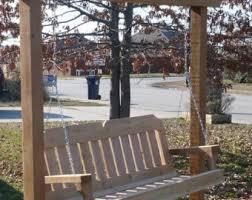 5 Ft Patio Swing With Cedar Pergola Create by Cedar Arbor Etsy