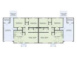 Floor Plans For Duplex Houses Duplex House Plans One Story Duplex Plan 025m 0081 At