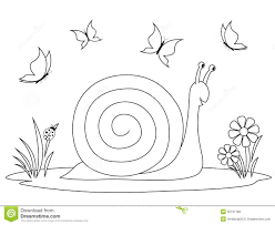 coloring book happy snail stock vector image 55131182