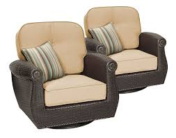 Swivel Rocking Chairs For Patio Breckenridge Tan 6 Pc Patio Furniture Set Swivel Rockers Sofa
