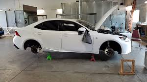lexus rx 350 white dust powder coated break calibers white with black lexus emblems