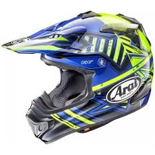 motocross helmet 2018 arai mx v motocross helmet mxv star yellow blue 1stmx co uk