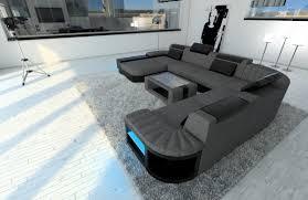 fabric sectional sofa bellagio xxl design sofa with led lights rgb