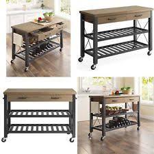 kitchen island cart kitchen islands carts tables portable lighting ebay