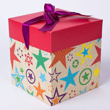 luxury gift box large square flat packed only 99p