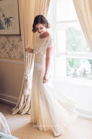 unique wedding dresses uk a line boat neckline floor length cap sleeves simple wedding dress