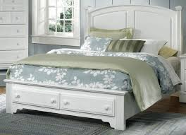 Bassett Bedroom Furniture American Hamilton Franklin Queen Panel Storage Bed In Snow White