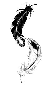 i this ying yang feather by lilythula on deviantart