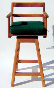 Swivel Chair Cushion by Redwood Captain U0027s Chair Bar Stool Wooden Bar Stools