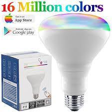 color changing flood light bulb amazon com smart light bulb color changing light bulb bluetooth