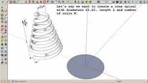 cone spiral in sketchup youtube